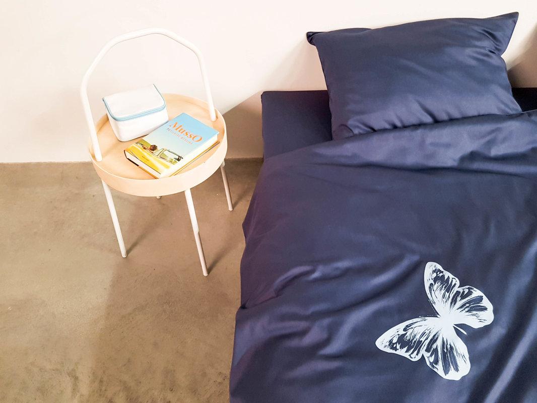 Patalynės komplektas ENIGMA Denim Butterflies 140x200 cm