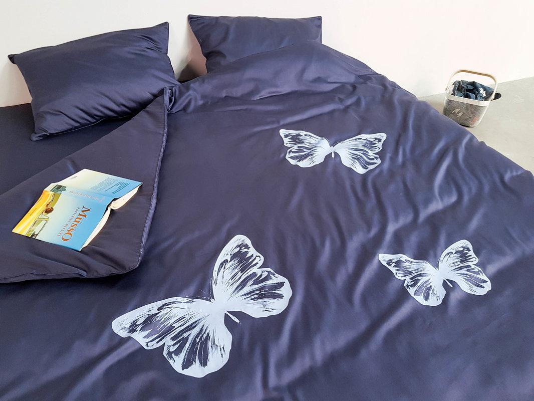Patalynės komplektas ENIGMA Denim Butterflies 220x200 cm
