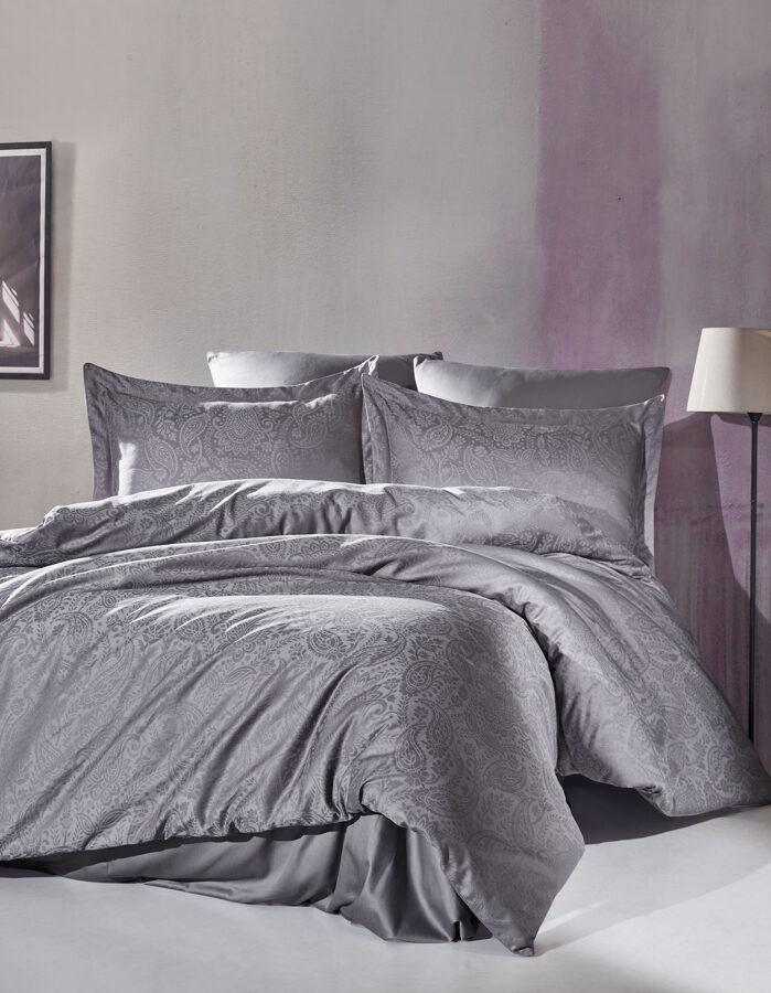Patalynės komplektas LUCIO Dark Grey 200x220 cm