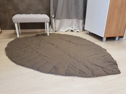 """Natūralaus lino užklotas-kilimėlis """"LAPAS"""", rudas"""