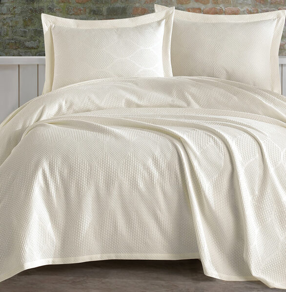 Lovatiesė su pagalvių užvalkalais VERA Cream 220x240 cm