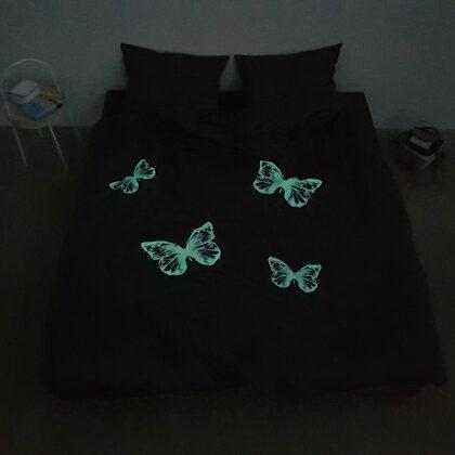 ENIGA Denim Butterflies patalynė   Vaizdas naktį