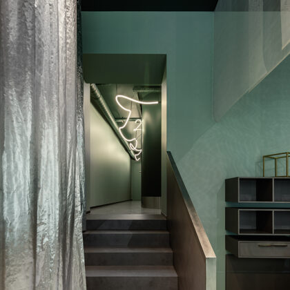 "Odontologijos centras ""LAVA Dental Studio"", Ryga. Interjero autorė: Zane Tetere-Šulce."