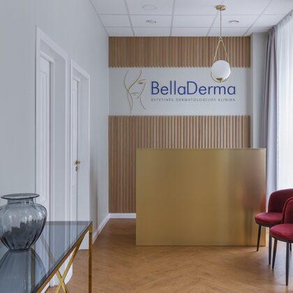 """Dermatologijos klinika """"BellaDerma"""", Šiauliai. Interjero autorė: Rūta Matulaitytė."""