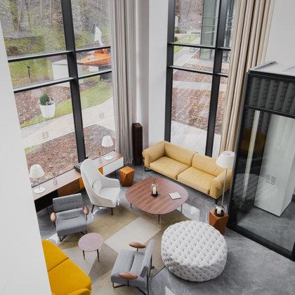 """Philosophers Residence"" hall (Riga, Latvia). Interior designer: Zane Tetere-Šulce"